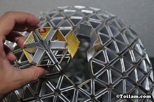 cách làm,đèn,tam giác,diy,handmade