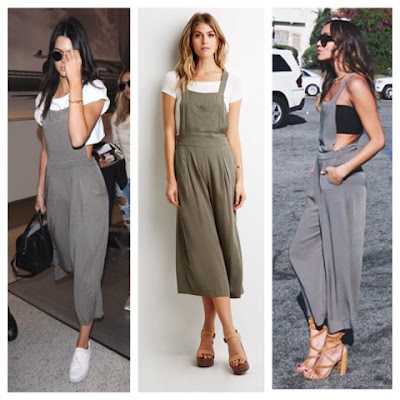 Kendall Jenner and Ashley Madekwe in Forever 21 Pleated Wide Leg Overalls