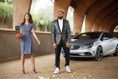 Emily Ratajkowski and Odell Beckham Jr in Super Bowl 50 Buick Commercial