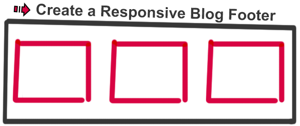 create a responsive blog footer