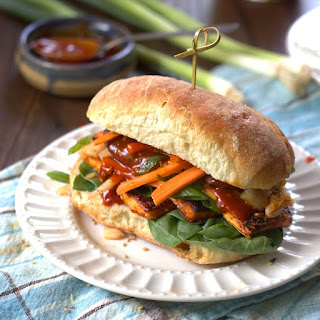 Korean Tofu Bibimbap Sandwiches
