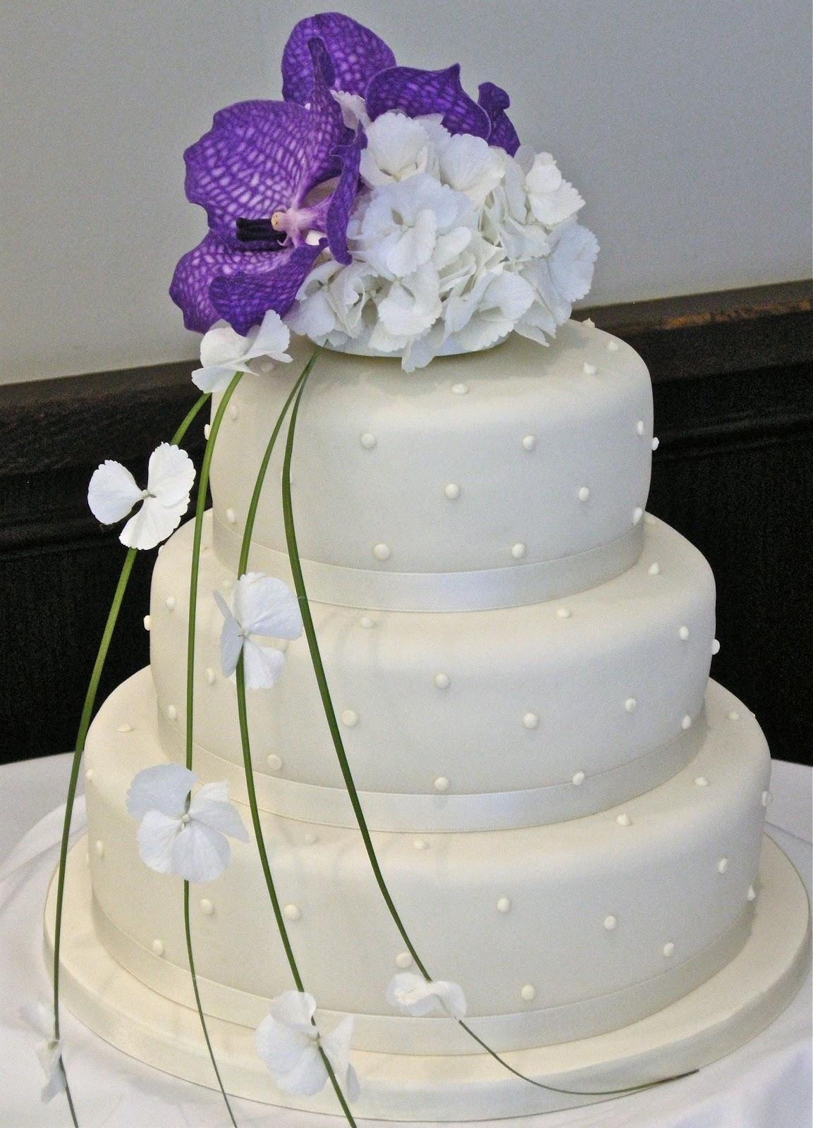 Letha\'s blog: 3 Tier Wedding cakes-Purple n