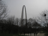 The St Louis Arch as we're walking toward it 03192011