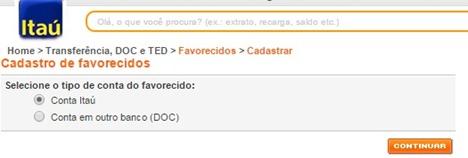 como-cadastrar-conta-de-favorecidos-itau-doc-ted-www.meuscartoes.com