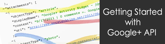 Getting Started with Google Plus API