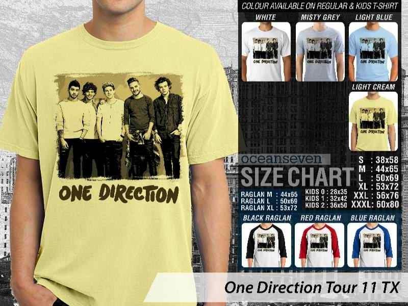 Jual kaos 1D One Direction Tour 11