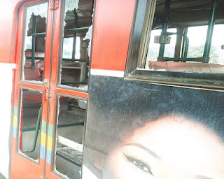 BRT bus destroyed for killing school girl