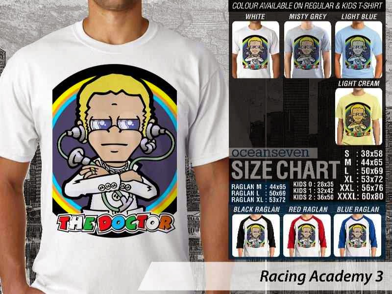 Kaos 46 Balap Racing Academy 3 The Doctor Valentino Rossi