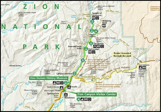MAP-Zion National Park Detail-2