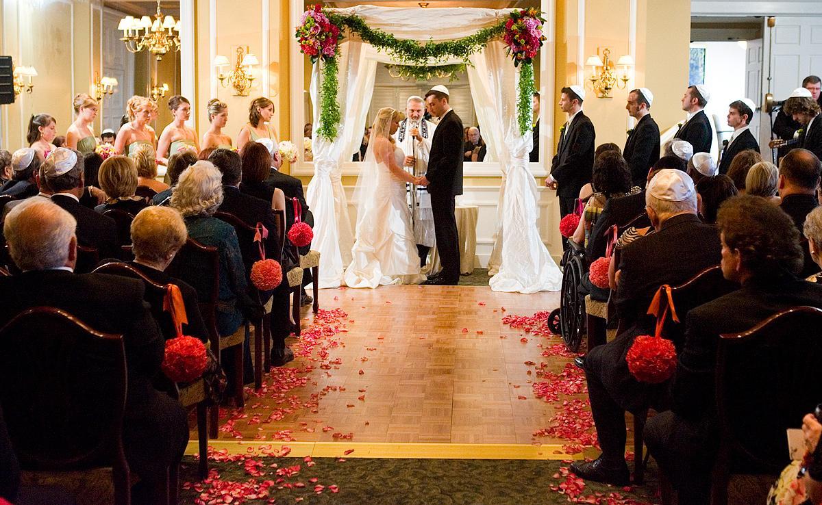 a Jewish wedding ceremony