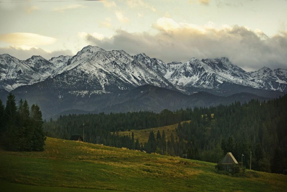 Panorama Tatr Wysokich z Bukowiny Tatrzańskiej