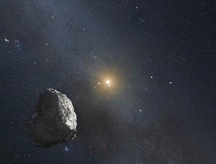 ilustração do astro além do Cinturão de Kuiper