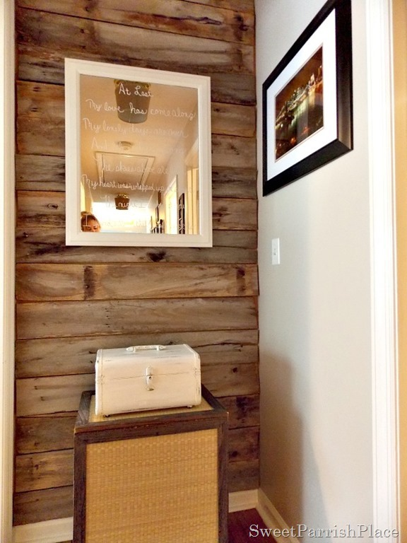 DIY Rustic Wood Wall- For Free!