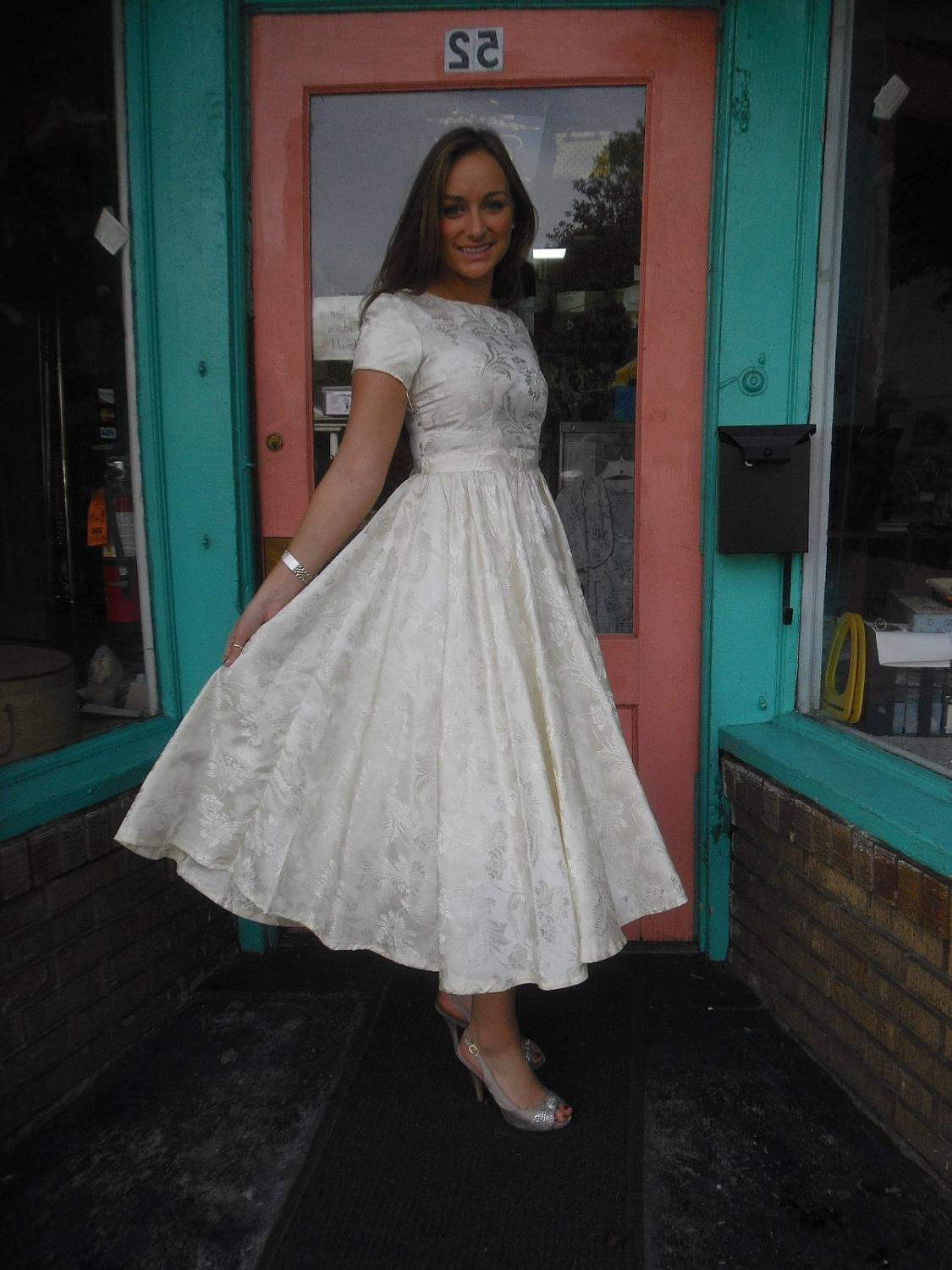 Totally FABULOUS 1950s Vintage Dress New Look Wedding Dress 34 in Bust FREE
