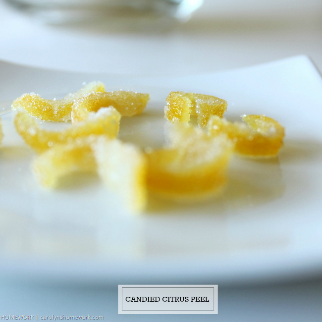 Candied Citrus Lemon Peel via homework