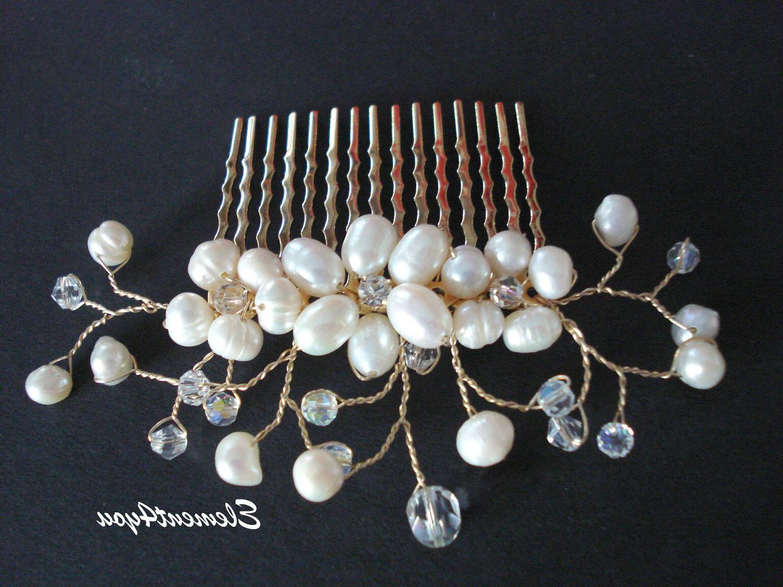 Bridal pearl comb Wedding Hair