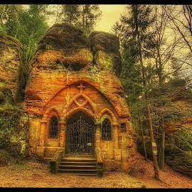 Modlivý důl by Petr Klingr - Landscapes Travel ( christian, hdr, trees, forest, chapel, rocks )