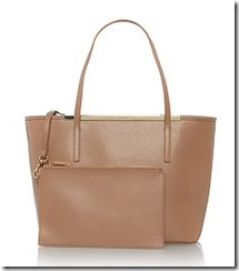 Ted Baker zip top tote bag with detachable pouch