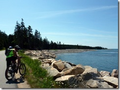 Biking Schoodic Peninsula
