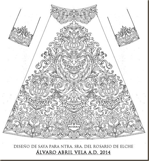 saya virgen del rosario de elche diseño alvaro abril vela 2015