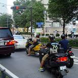 scooters in yokohama in Yokohama, Tokyo, Japan