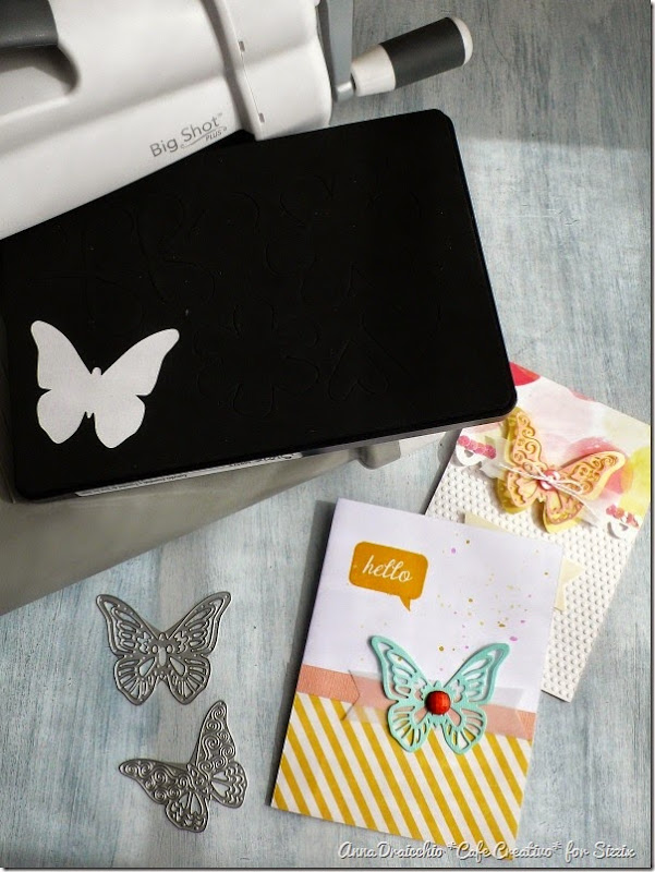 cafe creativo - sizzix big shot plus starter kit - butterfly card (5)