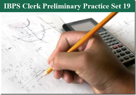 IBPS Clerk Preliminary Question paper PDF Set 19
