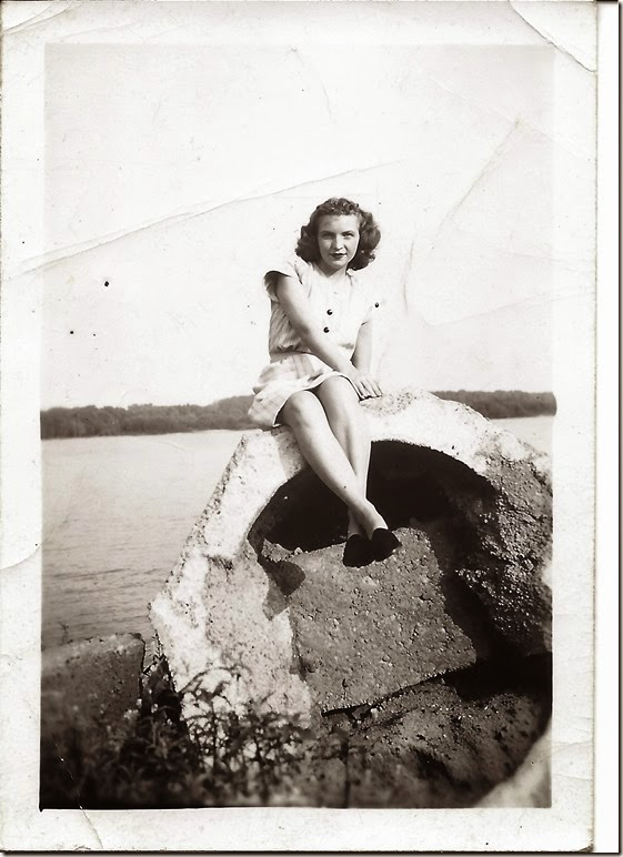 Grace on Miss River 1946