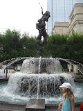 A fountain in downtown Nashville TN 09042011