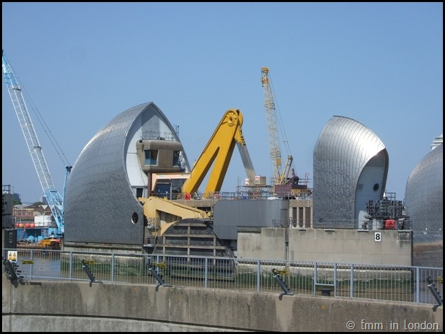 Close up of Thames Barrier London