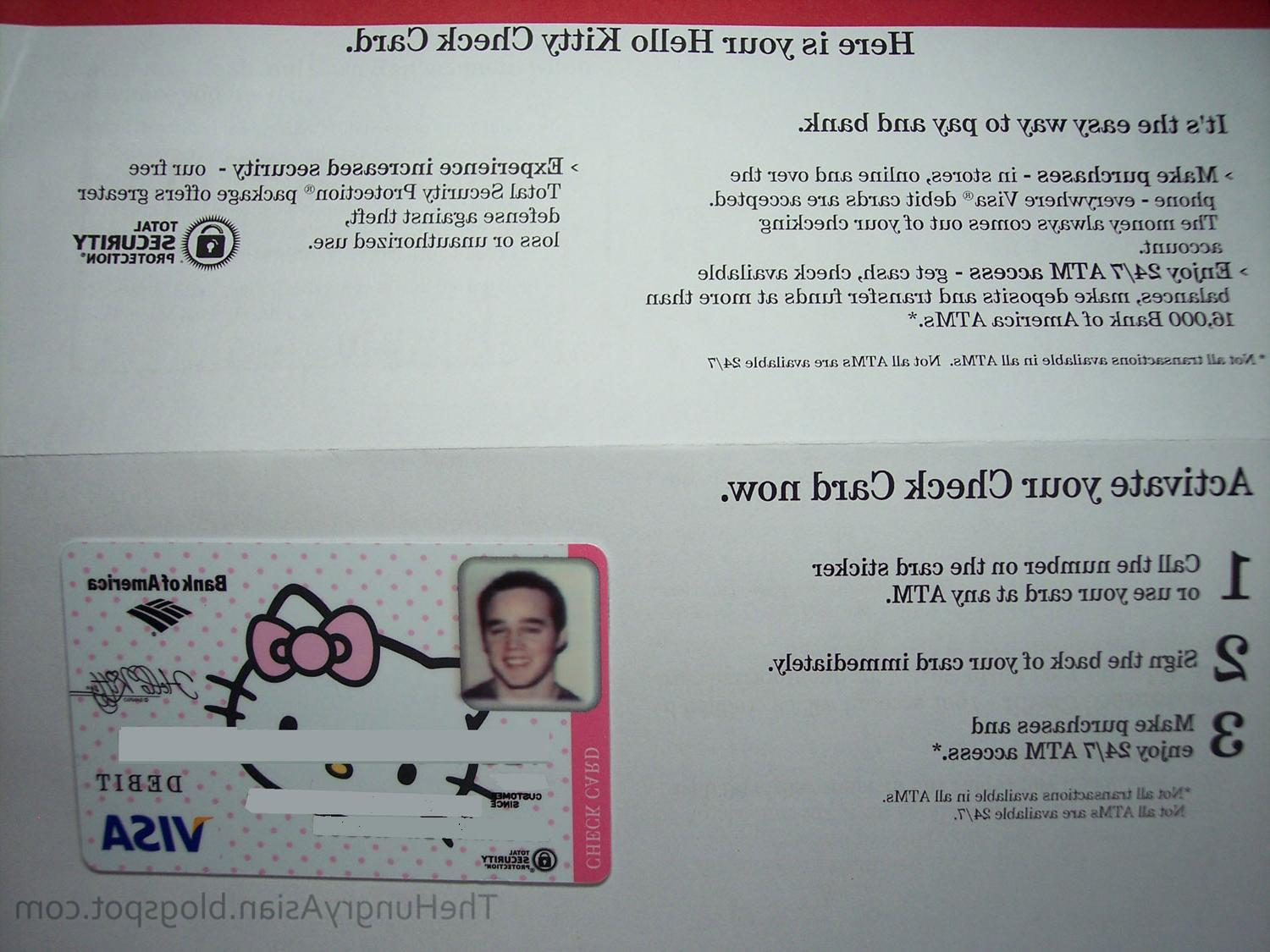 Hello Kitty check card