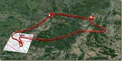 Aubenas - Mende - Millau - Aubenas v1 GoogleEarth