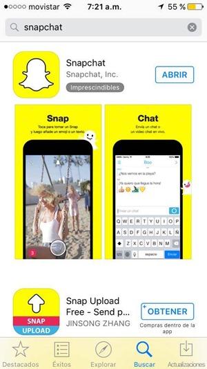 Descargar Snapchat