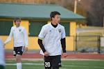 Cole Rader heads up field