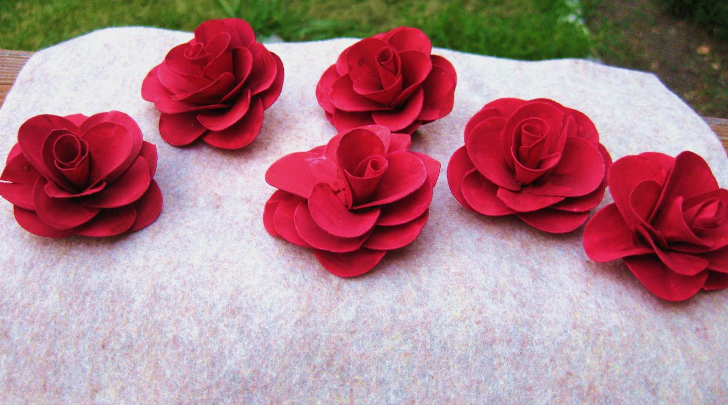red wedding boutonnieres