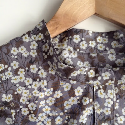 Sewing a Wiksten Tova Liberty tunic dress and some pattern tips by fabricandflowers