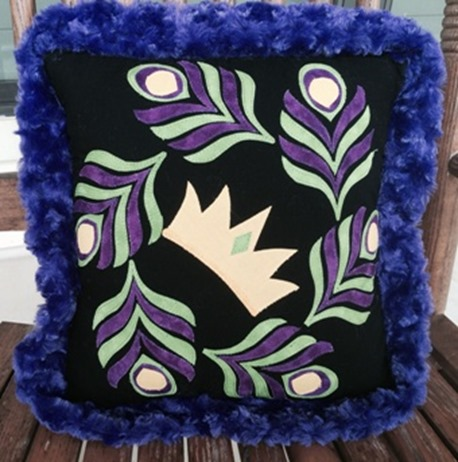 mardi gras pillow