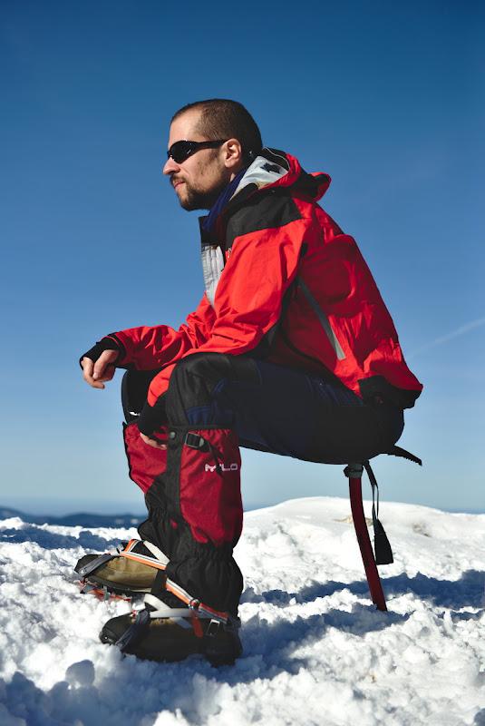 Scaunul improvizat al alpinistului.