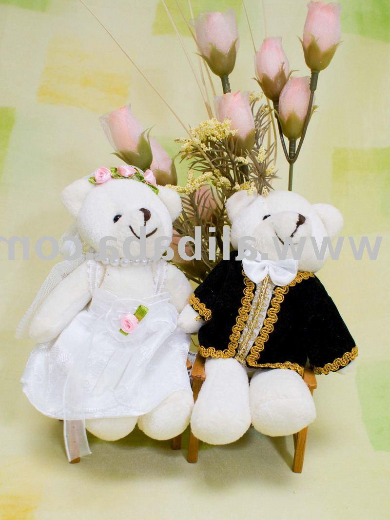 14cm Wedding Bear  2  1 Pair
