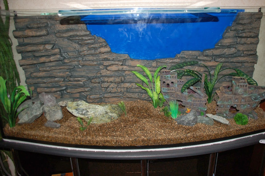 Задний фон аквариума своими руками 87