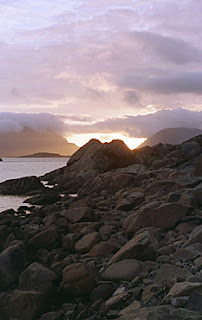 """Near Henningsvær, Lofoten Islands, Norway.  This is the """"midnight sun"""", I took this photo after 11:30 PM in June."""