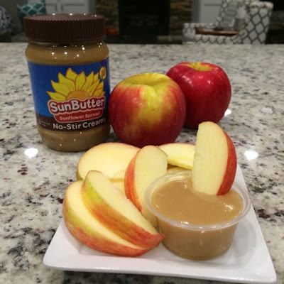 Delicious SunButter Caramel Dip is perfect for dipping apples or other foods.