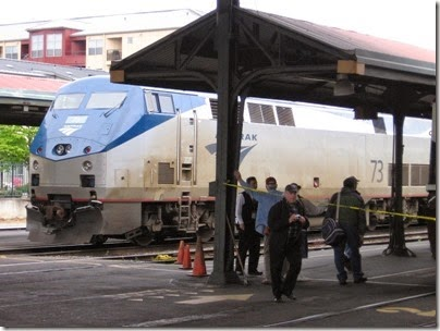 IMG_0735 Amtrak P42DC #73 at Union Station in Portland, Oregon on May 10, 2008