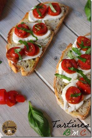 Tartines Basilic, Mozza, Chorizo 3