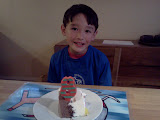 Eidan with his birthday cake