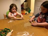Children making biscuits http://laura-honeybee.blogspot.com/2015/12/christmas-cooking-with-kids.html