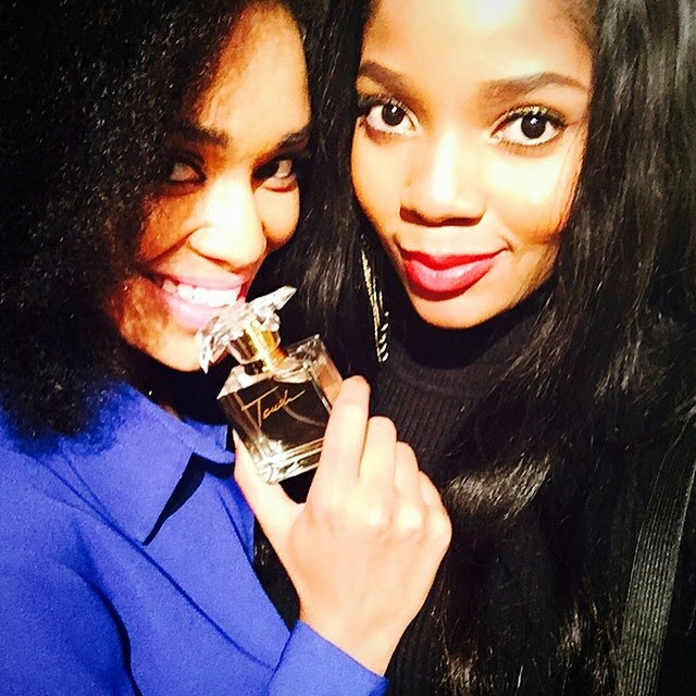 Moneoa and Pearl Thusi at T-Bo Touch fragrance launch
