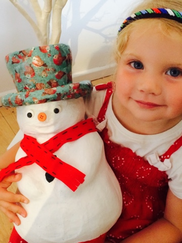 Make your own snowman decoration