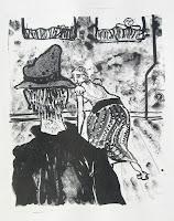 Dej BAO. 057 . Un Chemin dans la Pierre . 1978 . Lithographie . 55 x 36,5 cm