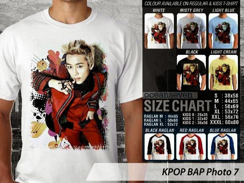 Kaos Bap 7 Photo K Pop Korea distro ocean seven